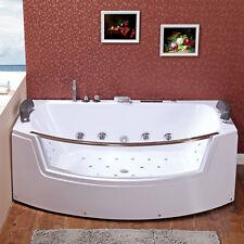 Whirlpool Badewanne 185x100 Luft+Wasser Heizung #64