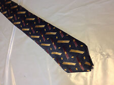 "BOYS 51"" Blue Red Gold SILK Tie Necktie CLASS CLUB~ FREE US SHIP (10537)"
