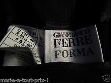 GIANFRANCO FERRE FORMA PANTALON BLEU MARINE TRES AGREABLE A PORTER AMINCISSANT