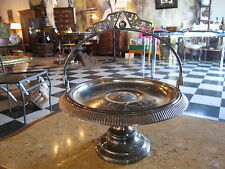 Antique Pairpoint Mfg Co Silver Plated Brides Basket w/ Floral Decoration
