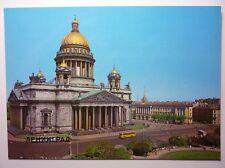 Vintage Russian Postcard Leningrad Saint Isaac`s Cathedral