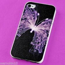 A3R Colorful Butterfly Back Skin Hard Cover Case for Apple i-phone 4 4S 4G G S