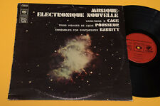JOHN CAGE LP ELECTRONIQUE NOUVELLE 1°ST ORIG EX EXPERIMENTAL CONTEMPORARY