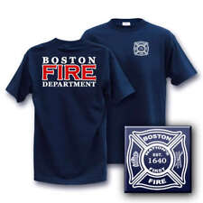 BOSTON FIRE DEPARTMENT LARGE Dept Duty T-Shirt est 1640