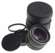 Leica Summicron-R 2/50mm E55 ROM SLR camera lens filter caps case f=50mm digital