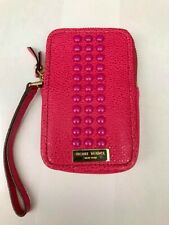 """Henri Bendel Bright Pink Credit Card/Small Cell Phone Wristlet (3"""" x 5"""")"""
