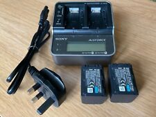 Genuine Sony AC-VQH10 Dual Charger with 2 x Sony NP-FH60 Batterys