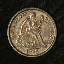 1875 10c Seated Liberty Silver Dime - Free Shipping US