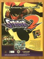 Strider 2 PS1 PSX Playstation1 2000 Vintage Print Ad/Poster Official Promo Art