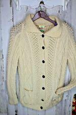 Bonner Ireland Vintage Cream Wool Handknit M/L (No Size) Women's Sweater