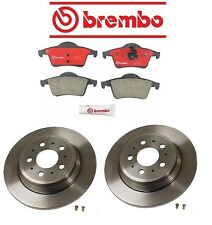 Volvo S60 04-07 L5 2.5L Brembo Rear Left Right Brake Kit with Rotors and Pads