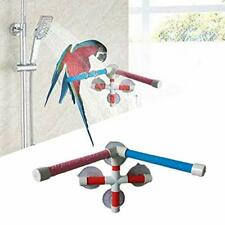 New listing Bird Bath Perch Stand with 4-Suction Cup Parrot Window Shower Rack Toy for Parak