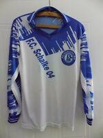 FC Schalke 04 Fußball Heimtrikot Original Bundesliga Langarm-Shirt Herrengröße