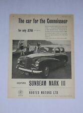 Sunbeam Mark III Advert from 1957 - Original Advertisement - MkIII