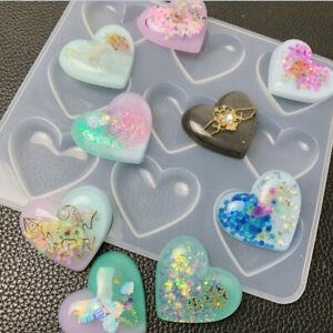 Bijoux en résine liquide moule en silicone coeur pendentif moules pour fabri_MG