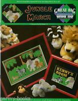 JUNGLE MARCH Kids Animals True Colors Great Big Graphs Cross Stitch Pattern NEW