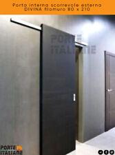 Porta interna scorrevole esterna DIVINA filomuro 80 x 210