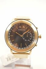Armani Exchange AXT1021 Black Dial Gold Tone Mesh Hybrid Smart Watch