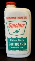VINTAGE SINCLAIR OUTBOARD MOTOR OIL QUART FULL NOS