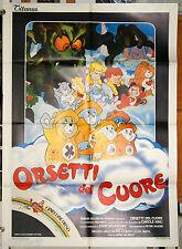 manifesto 2F originale ORSETTI DEL CUORE film d'animazione 1986