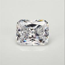 White Sapphire 9x11MM 7.80Ct Emerald Cut AAAAA VVS Loose Gemstone