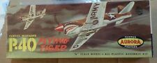 VINTAGE [1958] AURORA CURTISS P-40 FLYING TIGER  1/48 + REPRODUCTION DECALS
