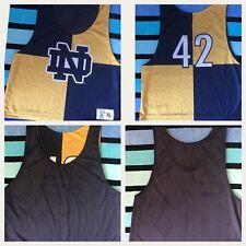 Notre Dame RARE Original League Collegiate Wear XL Reversible Tank/Top Jersey 42