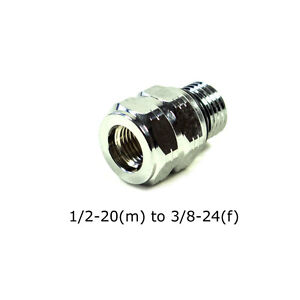 """Scuba Diving Threaded Adapter Male 1/2"""" - 20 UNF-2A to Female 3/8"""" -24 UNF - 2B"""