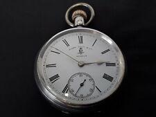 Antique Waltham mass solid silver pocket watch hallmarked 1898. Working.