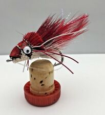 Pike Flies RED SWIMMING FROG Pack of Two Size 3/0 with Weedguard- #168C