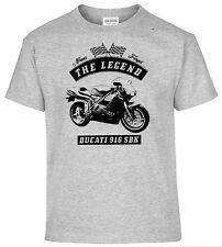 T-SHIRT, DUCATI 916 SBK , MOTO, bicicleta, Oldtimer, youngtimer