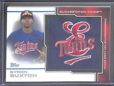 2013 Topps Pro Debut Manufactured Hat Log #MP-BB Byron Buxton No 4 of 75