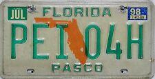 Florida license plate, original matrícula estados unidos pei 04h imagen original
