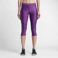 Nike Womens Power Speed Running Training Capri Tights 801694 556 Purple XS