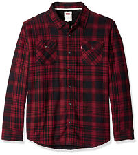 Levi's Men's Thorton Sherpa Lined Flannel Plaid Long Sleeve Button Shirt Jacket
