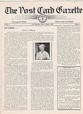 """POST CARD GAZETTE MARCH 1948-""""TOURING THE WORLD POST-CARD WISE"""""""