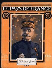 WWI Portrait Général Ferdinand Foch maréchal de France 1915 ILLUSTRATION
