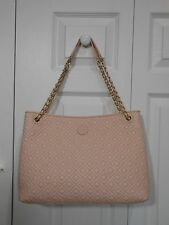 NEW Auth Tory Burch Marion Quilted Leather Shoulder Bag Tote Purse, Pale Apricot