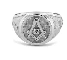 NEW Mens Solid Platinum 950 Masonic Ring Freemason Master Mason High Quality