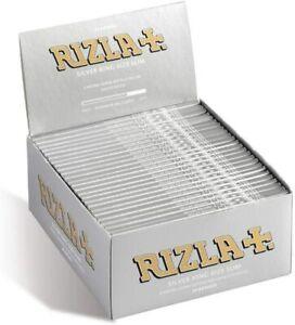 GENUINE - RIZLA Silver King Size Slim UltraThin Cigarette Smoking Rolling Papers