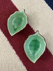 "MC 4"" Leaf-shaped Ceramic (set Of 2) Sauce Dish Plate"
