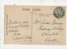 Mrs James Ramsay Railway Cottage Downfield Dundee 1908  794a