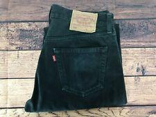 Mens Vintage LEVIS 501 Denim Jeans W33 L36 Regular Straight Leg Black