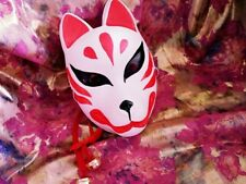 Japanese Hand-Painted Fox Mask Kitsune Cosplay Full Face Party Masque Halloween