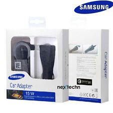 OEM Retail Samsung Galaxy S6 S7 Note 4 5 Adaptive Fast Car Charger+5Ft Cable Bl