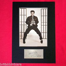 ELVIS PRESLEY JAIL HOUSE ROCK Autograph Mounted Photo Reproduction PRINT A4 409