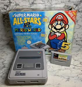 Super Nintendo SNES Boxed with Mario All Stars & Super Mario World