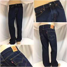 Levi's 505 Jeans 36x32 Dark Wash Denim Straight Leg NWOT YGI 8650
