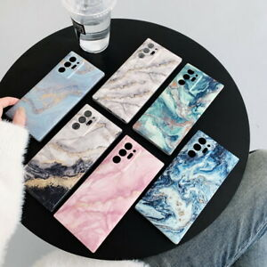Case For Samsung Galaxy S21 Ultra S20 FE A51 A71 Granite Marble Silicone Cover