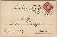 ERITREA - Storia Postale: CARTOLINA annullo PIROSCAFO A. VESPUCI 1903 via ADEN